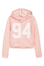 Printed hooded top - Powder pink - Kids | H&M 2